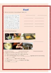 English Worksheet: Food and cooking verbs