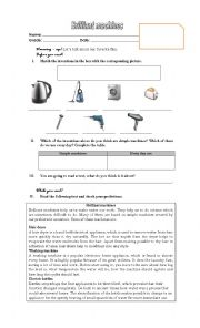 English Worksheet: brilliant machines