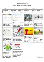English Worksheet: Words Related to Personal Schedules
