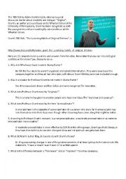 """TED Talk, """"The Surprising Habits of Original Thinkers"""" Comprehension Quiz"""