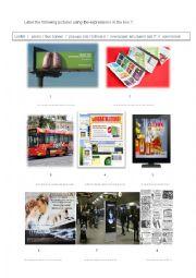 English worksheet: Advertisment