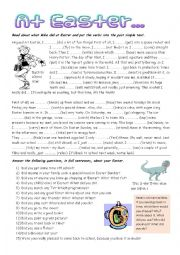 English worksheet: What did Mike do at Easter?