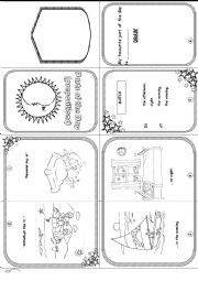 English Worksheet: Parts of the day MINI BOOK