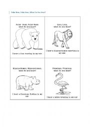 What is Polar Bear Doing? - ESL worksheet by EstherLee76