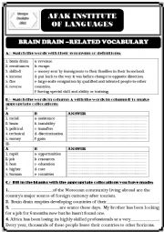 Brain Drain worksheet