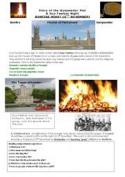 English worksheet: Reading comprehension about