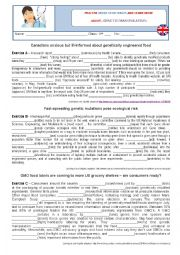English Worksheet: Verb tenses - genetics