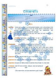 English Worksheet: Fun in class: Cinderella playscript