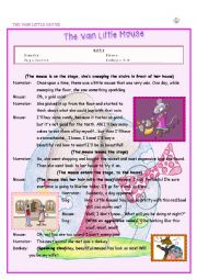 English Worksheet: The vain little mouse - Playscript for fun drama lessons!