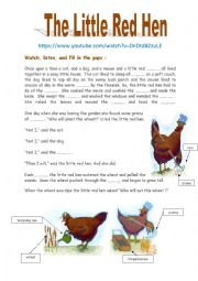 The Little Red Hen (Watch, listen, and  ....)