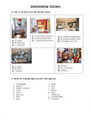English Worksheet: Describing rooms