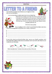 WRITING - LETTER TO A FRIEND - christmas traditions