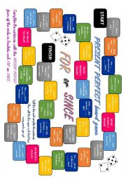 Present Perfect board game (with for and since)