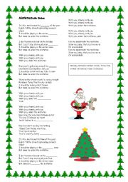 English Worksheet: MISTLETOE SONG JUSTIN BIEBER