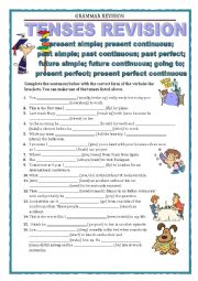 English Worksheet: GRAMMAR REVISION - tenses revision