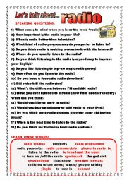 English Worksheet: Let�s talk about radio