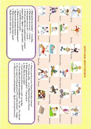 English worksheets: let's talk about worksheets, page 14