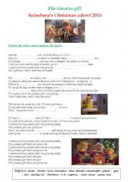English Worksheet: The Greatest Day- Sainsbury´s Christmas advert