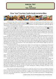 English Worksheet: Test - How