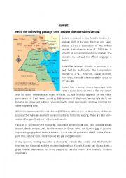 English Worksheet: Reading Comprehension Kuwait