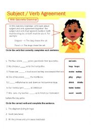 English Worksheet: Subject / Verb Agreement