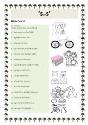 English Worksheet: Apostrophe S worksheets