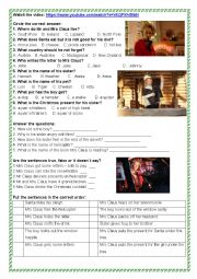 English Worksheet: M&S Christmas Advert 2016