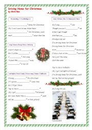 English Worksheet: Driving Home for Christmas by Chris Rea