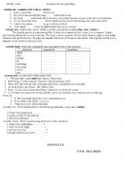 English Worksheet:  activities for winter holidays( 4 am)