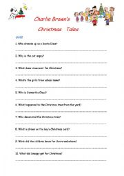 Charlie Brown´s Christmas Tales Worksheet