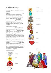English Worksheet: The story of Christmas!