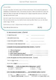 English Worksheet: 6th form test