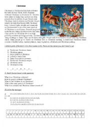 English Worksheet: Reading Comprehension Christmas