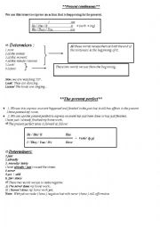 Present continuous & present perfect_ study sheet