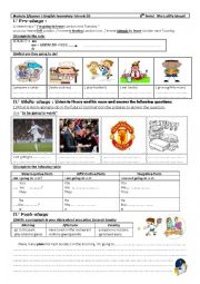 English Worksheet: 8th form third hour