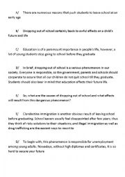 English Worksheet: writing cause and effect essay