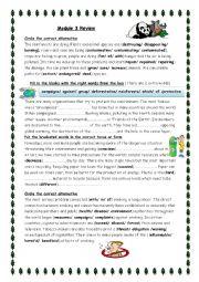 English Worksheet: pollution