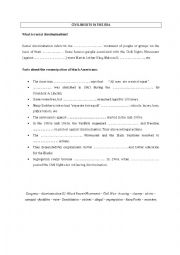 english worksheets civil rights a few facts. Black Bedroom Furniture Sets. Home Design Ideas