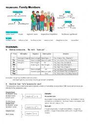 English Worksheet: Family Member in Genitive Case