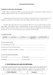 English Worksheet: Revision for the 7th formers