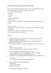 English Worksheet: Webquest Japan