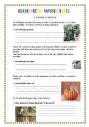English Worksheet: Guided writing. Writing A2