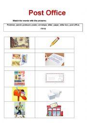 English Worksheet: Post Office matching