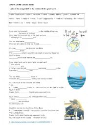 English worksheet: PRACTISING FUTURE WITH THE SONG