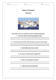 home gt other printables worksheets gt means of transport the ferry