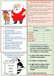 English Worksheet: Rudolph the cute reindeer