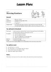 English Worksheet: Morning Routines