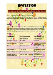 English Worksheet: Invitation