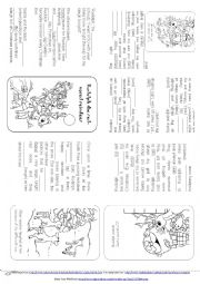 English Worksheet: Rudolph the red-nosed reindeer (Story mini book)