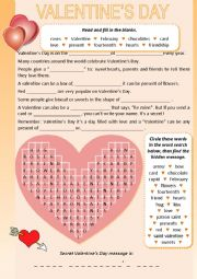 Valentine's Day  ♥ Word search ♥